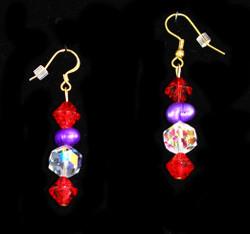 Details of drop earrings