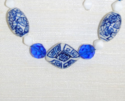 Close up view of beads