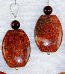 Full view of drop earrings