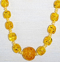 View of lower section of necklace