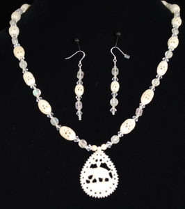 "Front view of 23"" necklace set"