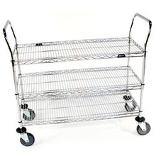 3 Shelf Wire Utility Cart 2448R3C