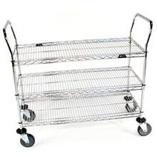 3 Shelf Wire Utility Cart 2460R3C