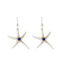 Reyes Del Mar Star Fish Earrings w/ genuine Sapphire