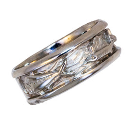 Reyes Del Mar Sterling silver ring Mahi Sailfish and Marlin