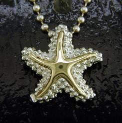 Steven Douglas Sterling silver and 14k gold Starfish Pendant