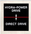 Hydra-Power Shifting Decal (158687A)