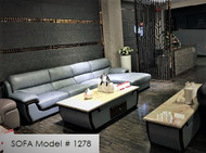 LEATHER SOFA Model # 1278