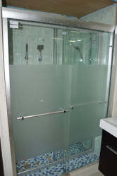 K-7  1.3m x 1.9m  Sliding Shower Door with Frosted Glass