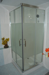 7501 Corner Square Sliding Shower Enclosure 90cm x 90cm