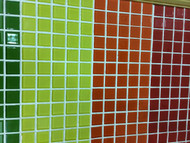 Glass Mosaic with different colors