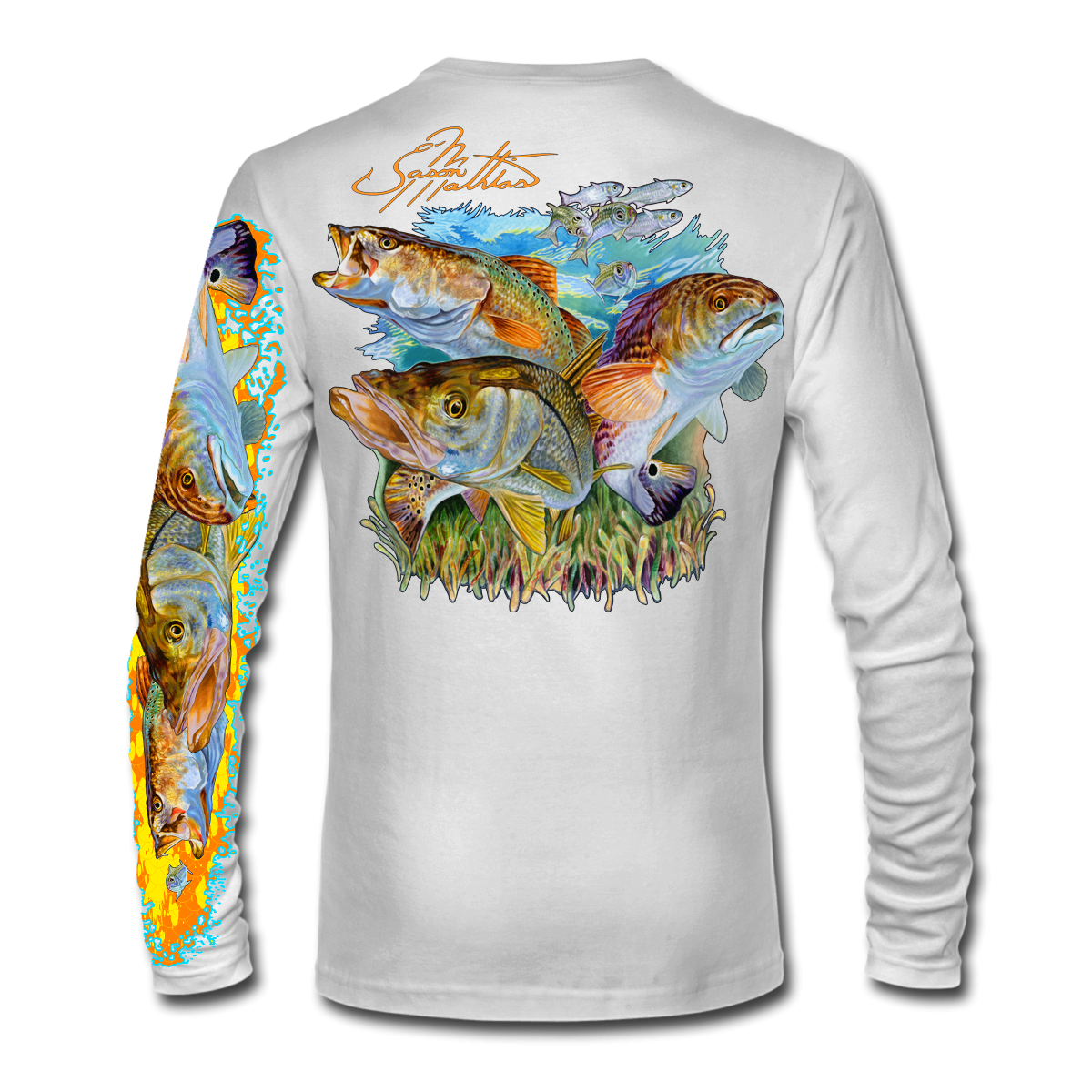 inshore-slam-snook-redfish-trout-shirt-jason-mathias-white-back.png