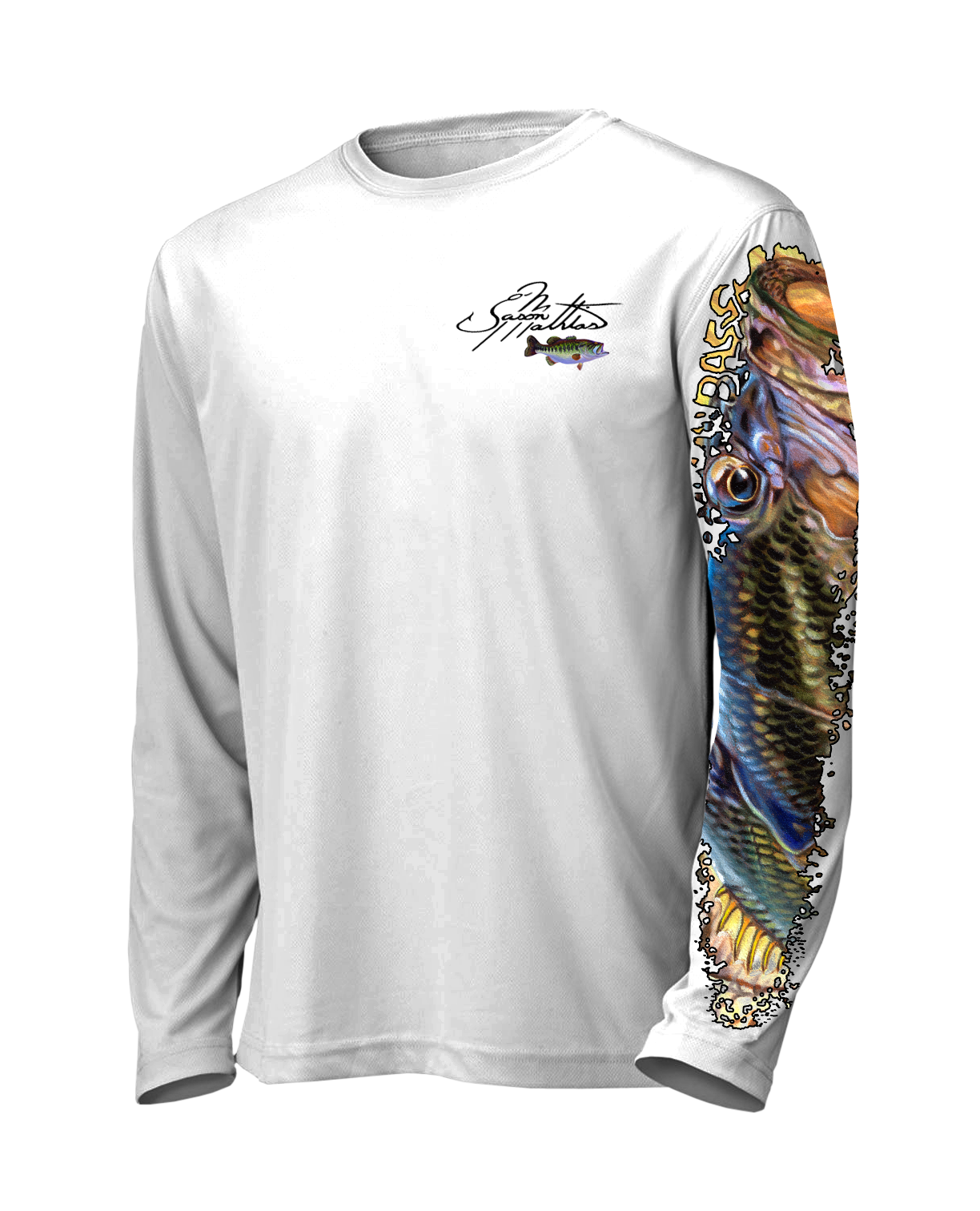 jason-mathias-large-mouth-bass-white-t-shirt-high-performance-gear-and-wear.png