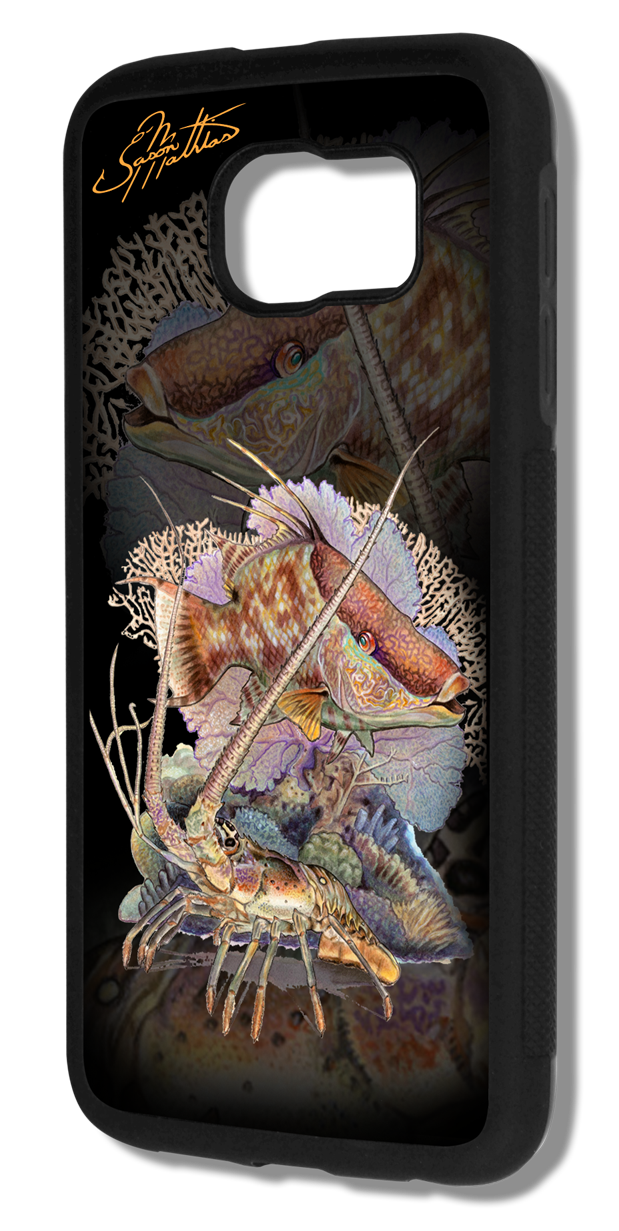 jason-mathias-samsung-galaxy-s7-case-cover-protective-slim-smartphone-hogfish-lobster-art-diving-spearfishing.png