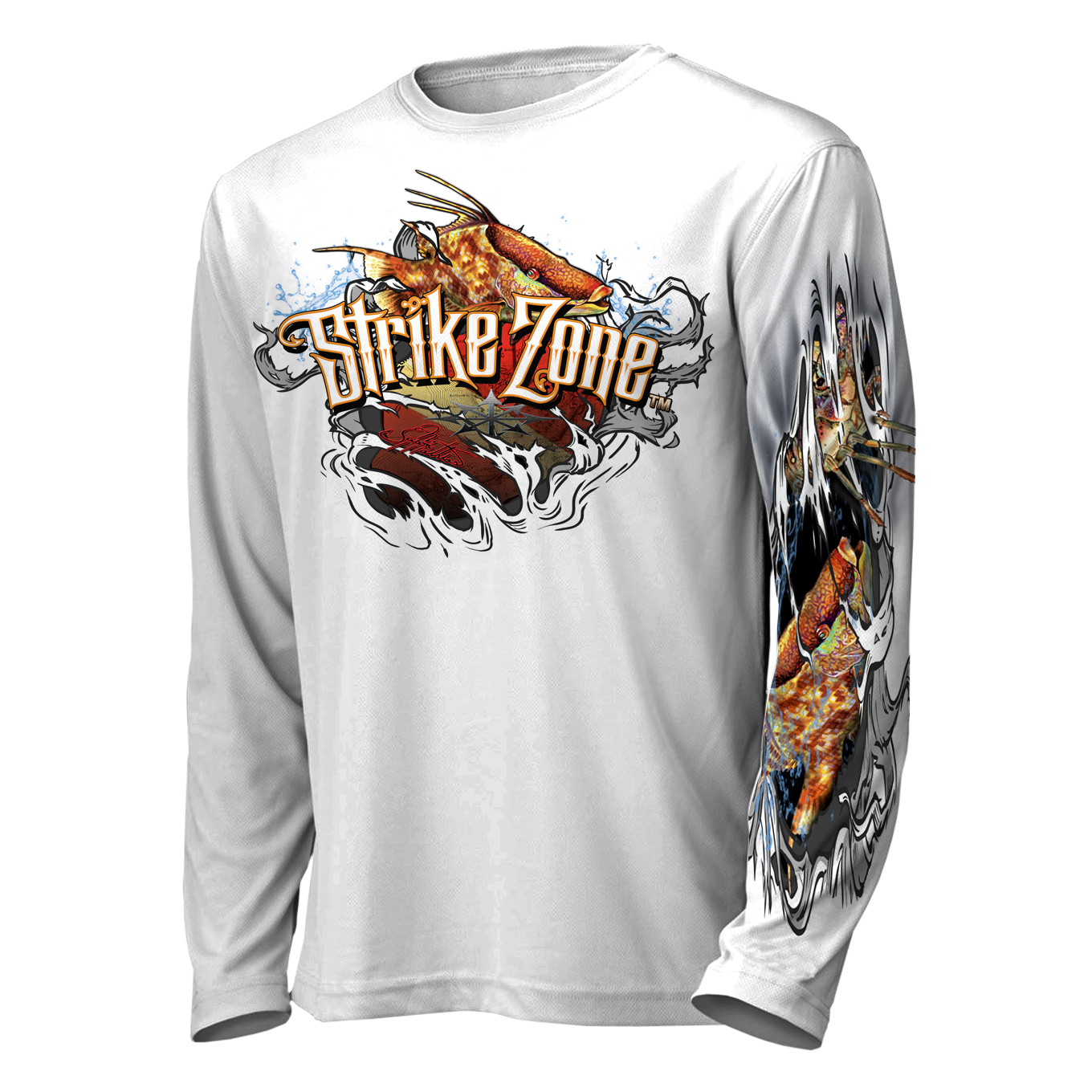 jason-mathias-strike-zone-hogfish-lobster-diving-shirt-front-white.png