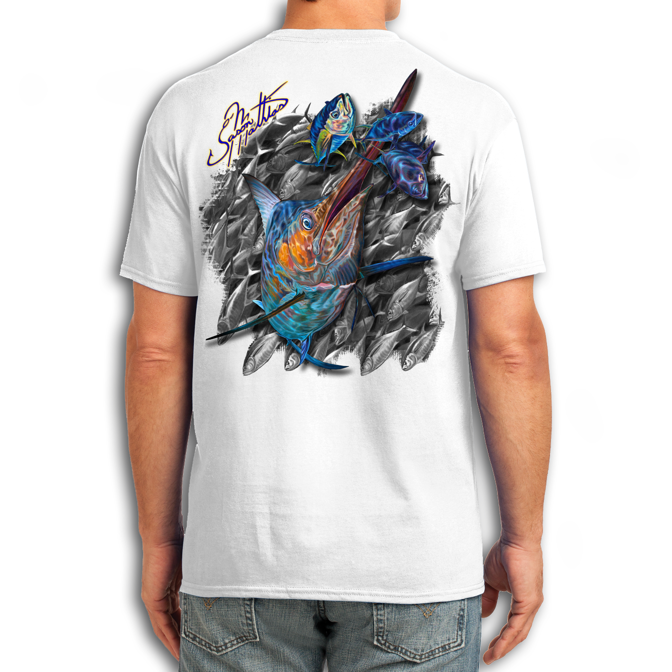 t-shirt-short-sleeve-white-jason-mathias-art-blue-marlin.png