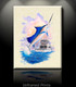 """Unframed Prints of My Other Honey"", skilled artist Jason Mathias masterfully portrays a leaping Sailfish lighting up and thrashing while putting up a good fight aboard the ""My Other Honey""."