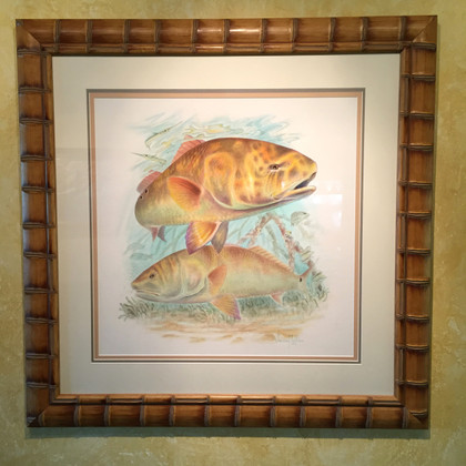 Original Jason Mathias painting. Redfish.