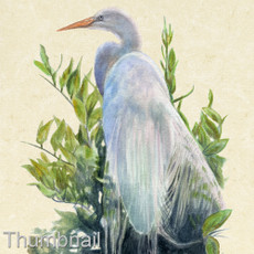 "(Original) ""White Herron"" (Available)"
