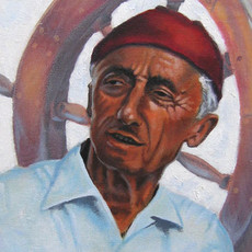"""(Original) """"Jacques Cousteau"""" (SOLD)"""
