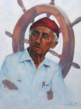 """In this vision, skilled artist Jason Mathias masterfully portrays dive legend """"Jacques Cousteau""""."""