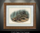 """Framed paper prints"" In this vision, skilled artist Jason Mathias masterfully portrays a beautiful and accurate rendition of a natural ambush featuring a most prized species, the Fluke or Summer Flounder."