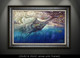 Framed art blue marlin by Jason Mathias