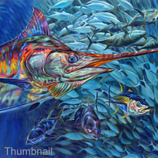 """Blue Mirage"" (Blue Marlin and Tuna)"