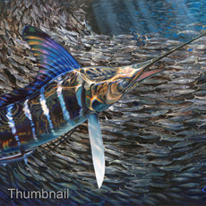 """Striped Gem"" (Striped Marlin & BaitBall)"