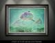 """Framed prints"" by artist Jason Mathias masterfully portrays a school of nimble Palometa Pompano cut through blue-water shallows."