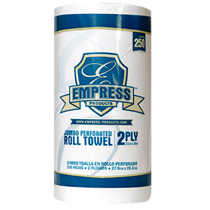 "Empress Kitchen roll towel White 2ply 8x11"" 80 sheet 30 roll"