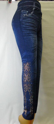 One size fits most (Sm - XL) with crystal embellishment