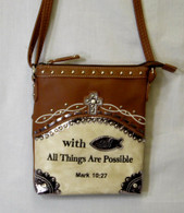 With God All Things Are Possible, Mark 10:27, Purse with shoulder strap AND conceal carry pocket