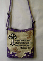 The LORD Your God Will Be With You Wherever You Go, Joshua 1:9, Purse with shoulder strap AND a concealed carry pocket