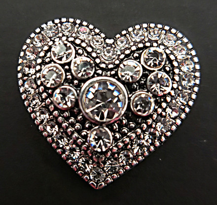 Heart with Clear Crystals