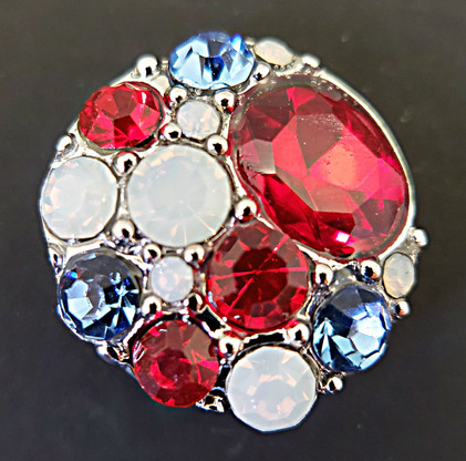 Red, White and Blue Rhinestone Crystals