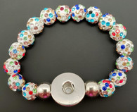 Multi-Colored Crystal Rhinestone Stretch Bracelet