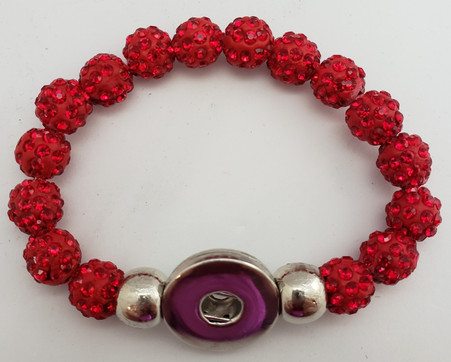 Red Crystal Rhinestone Stretch Bracelet