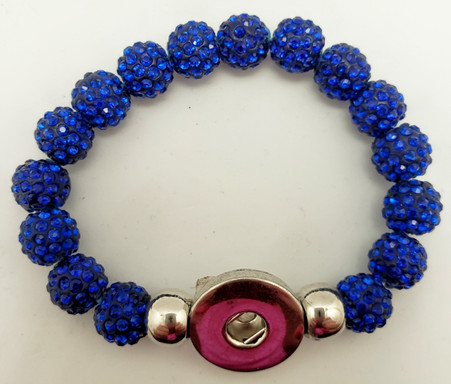 Royal Blue Crystal Rhinestone Stretch Bracelet