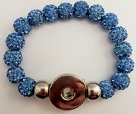 Blue Crystal Rhinestone Stretch Bracelet