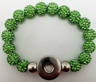Lime Green Crystal Rhinestone Stretch Bracelet