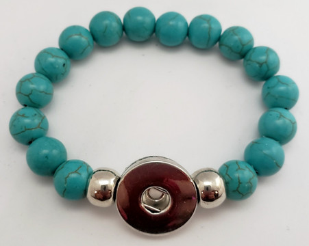 Turquoise Howlite Bead Stretch Bracelet