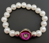 White Pearl Bead Stretch Bracelet