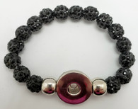 Black Crystal Rhinestone Stretch Bracelet