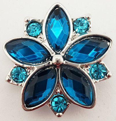 Turquoise/Teal Crystal Flower
