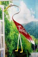 "Beautiful ""Go Sooners"" PVC Bird.  Handmade and hand painted  Stands about 33"" Tall and can be displayed indoor or outdoor."