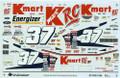1284 #37 K Mart 1997 2nd Color Scheme Jeremy Mayfield