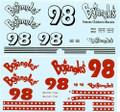 #98 Bojangles 1993 Thunderbird Derrike  Cope