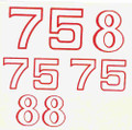 #8/#75 numbers