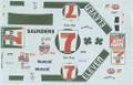 "#7 7 Eleven ""Shamrock"" white car 1983 Kyle Petty"